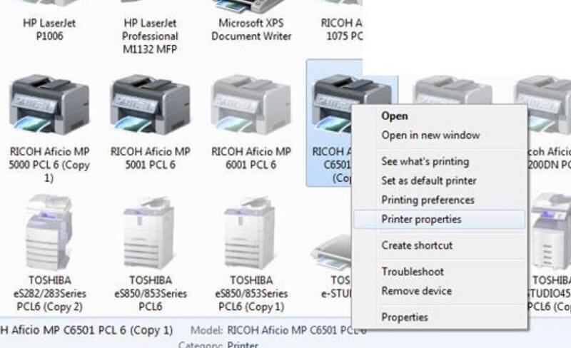 Kiểm tra địa chỉ IP của máy photocopy Ricoh