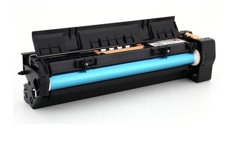 Cụm trống máy photocopy bị trầy hoặc hỏng cũng se gây ra hiện tượng bản in bị đen