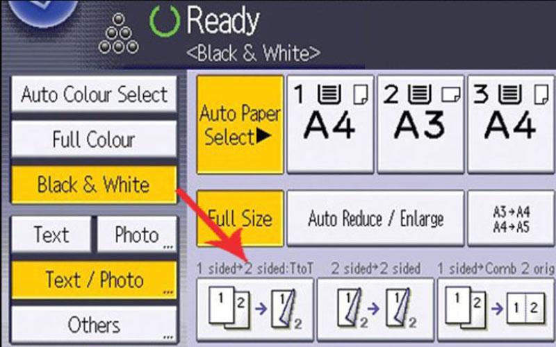 Bước 3 chọn photocopy ghép mặt hay photo sách