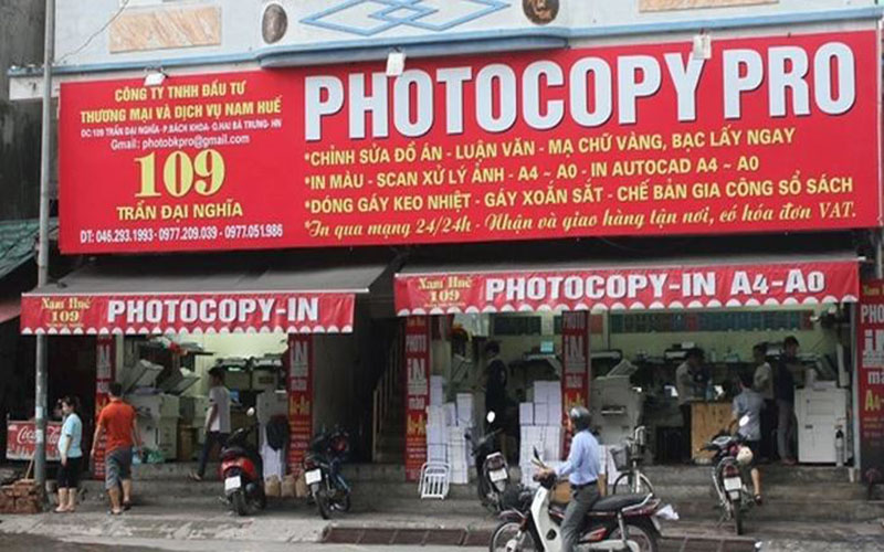 Cửa tiệm photocopy