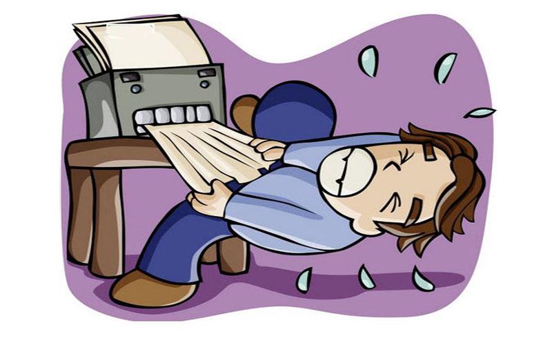 Máy photocopy bị kẹt giấy xảy ra rất thường xuyên