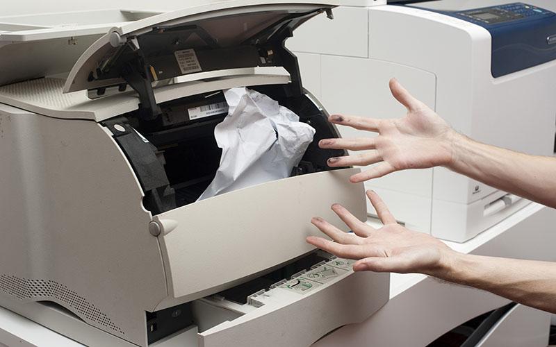 Nhăn giấy do linh kiện hỏng