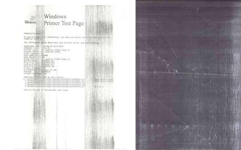 Bản chụp máy photocopy bị đen toàn bộ