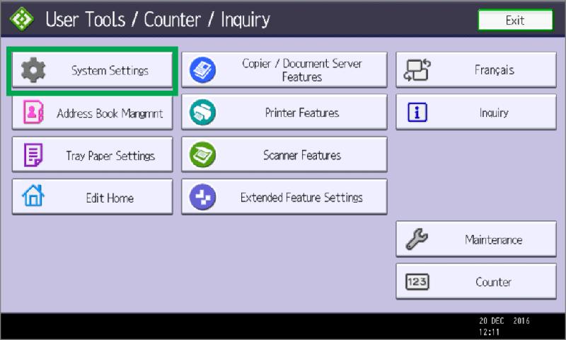 nhấn nút Counters hoặc Use tool