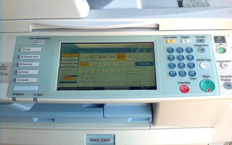 Cách scan tài liệu trên máy photocopy Ricoh