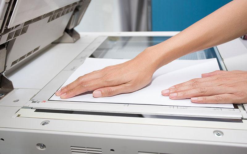 Scan nhiều mặt thành 1 file PDF bằng mặt kính máy photocopy