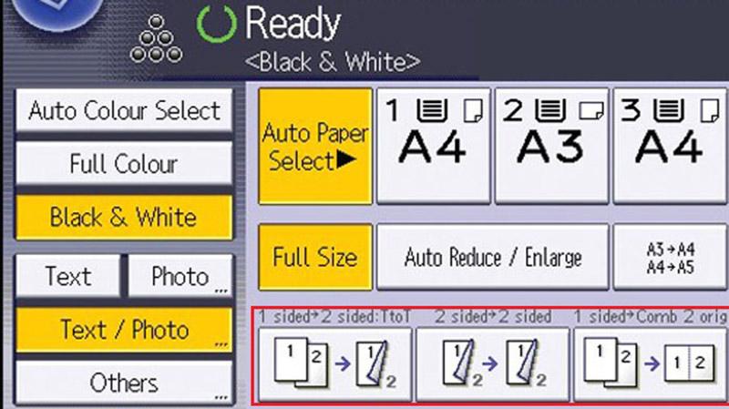 Photo 2 mặt giấy A4 với máy photocopy Ricoh