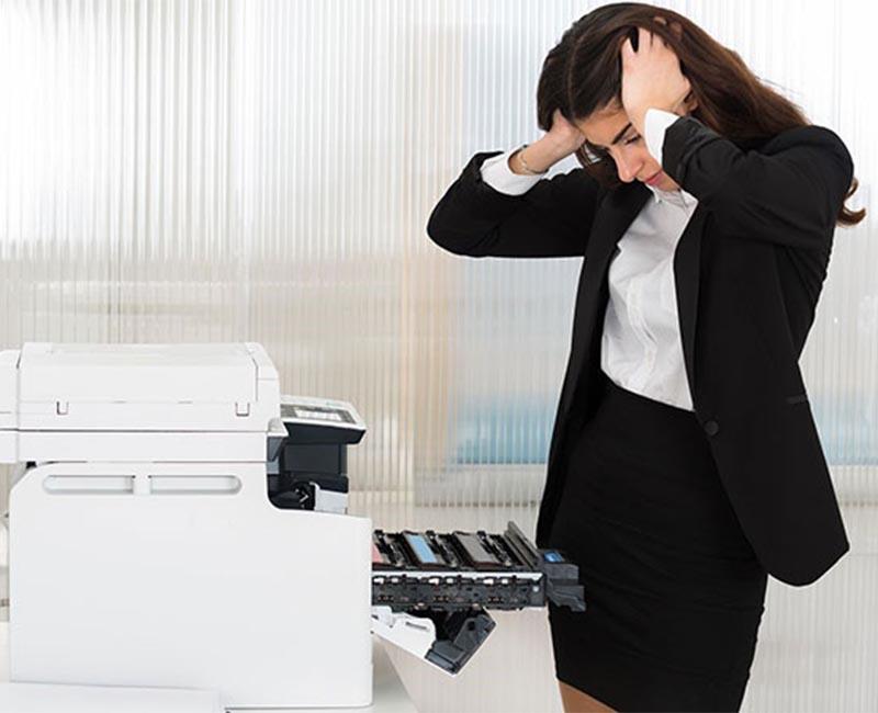 Xử lý tình trạng máy photocopy bị rò mực