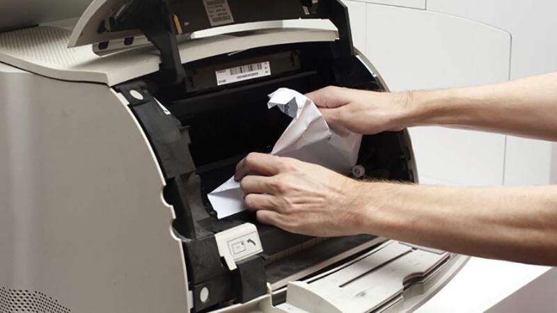 Xử lý khi kẹt giấy