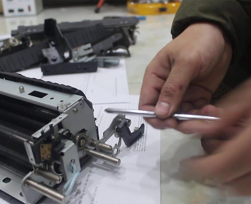Cách thay cụm sấy của máy